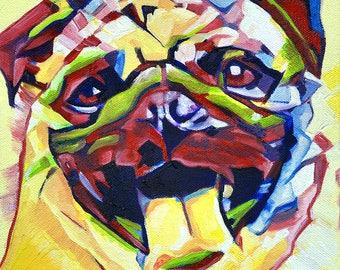 Pop Art Pug 1 Abstract Prints - Museum Quality Fine Art Giclée Prints