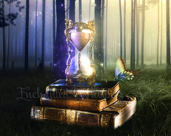 surreal fantasy hourglass art print by Enchanted Whispers