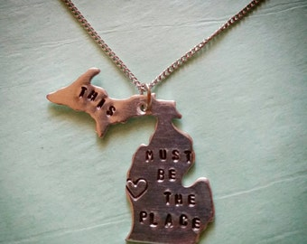 Michigan Talking Heads - This Must Be The Place necklace