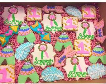 Little Girl Boho Cookies