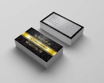 Luxury Business Card, Golden Business Card, Business Card Design, Printable Card, Vintage Business Card, Calling Card, Business Cards