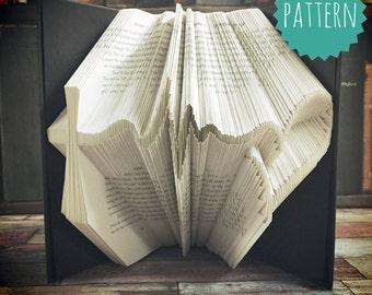Folded Book Art Faith Strength Love Pattern & tutorial, gift, decoration