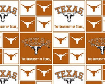 "END OF BOLT - University of Texas Longhorn Fabric - 32"" X 44"""