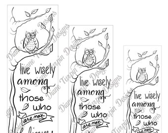 Bible Journaling Verse Art - Margin Art - Bookmark featuring Colossians 4:5 Live Wisely