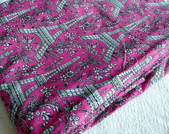 Paris France Fabric Quilt Backing Nearly 5.5 Yards Pink White Black Quilting Cotton Rare HTF Pls. Read Description, More Lots Available