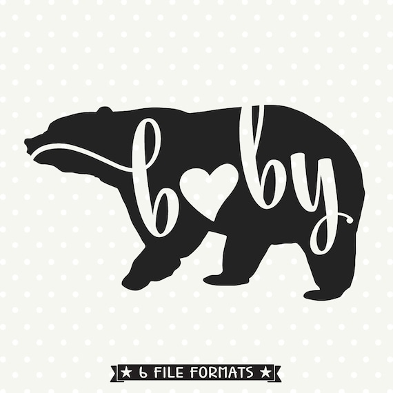 Family Dxf File Baby Bear Svg File Bear Silhouette File