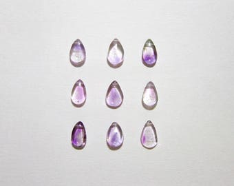 Sm - Sterling Silver Charms - 14k Gold Charms - Purple Moss Amethyst Pendant - Amethyst Birthstone Charms - Dangle Earring Charms