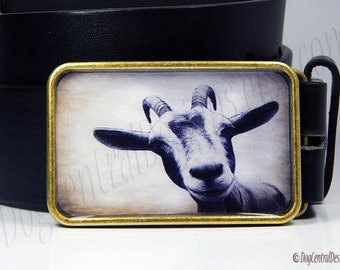 Adorable Goat Belt Buckle Choice of Buckle Finish Womens Mens Belts Unique Birthday or Anniversary Gifts