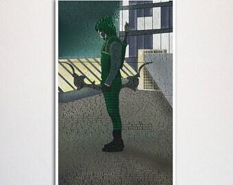 "Arrow word art print -11x17"""