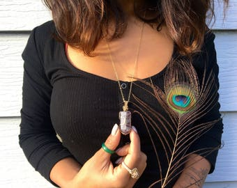 Florite Necklace- goldfill