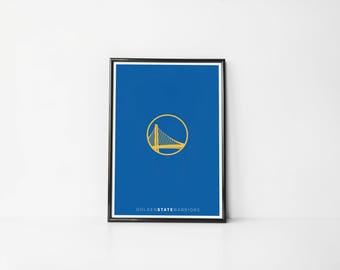 Golden State Warriors Minimalist | Art Print