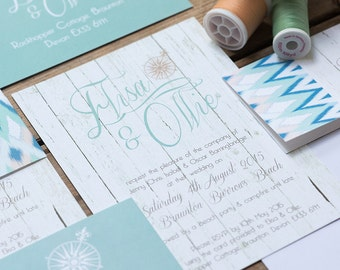 SAMPLE PACK Bohemian Beach Wedding Invitations And Stationery