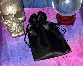 Black Satin Tarot Card Bag Unique Spooky Divination Fortunetelling Tarot Fortune Telling