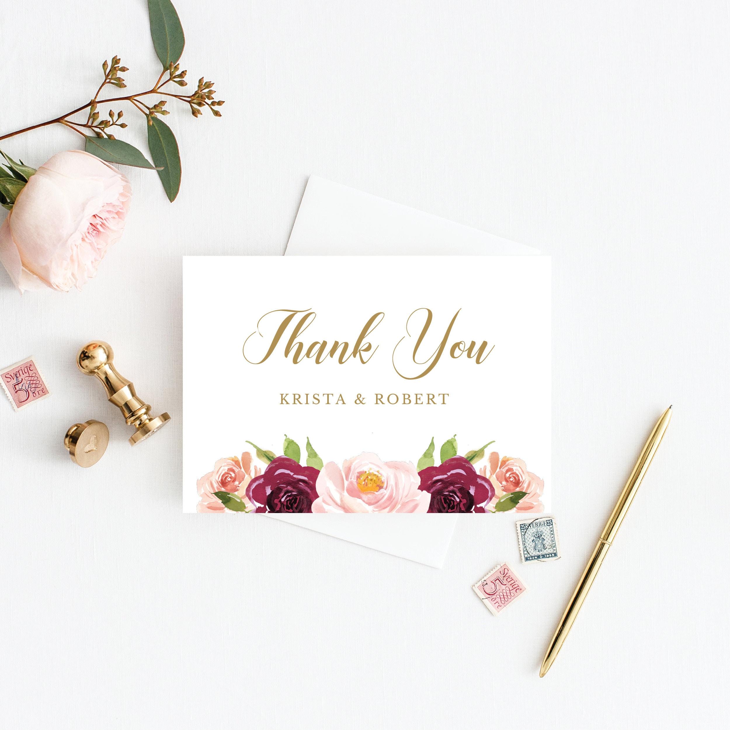 Burgundy Rustic Floral Wedding Invitation, Invitation Suite, Marsala ...