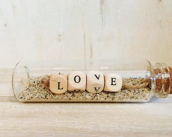 "Little message in a bottle ""LOVE"""