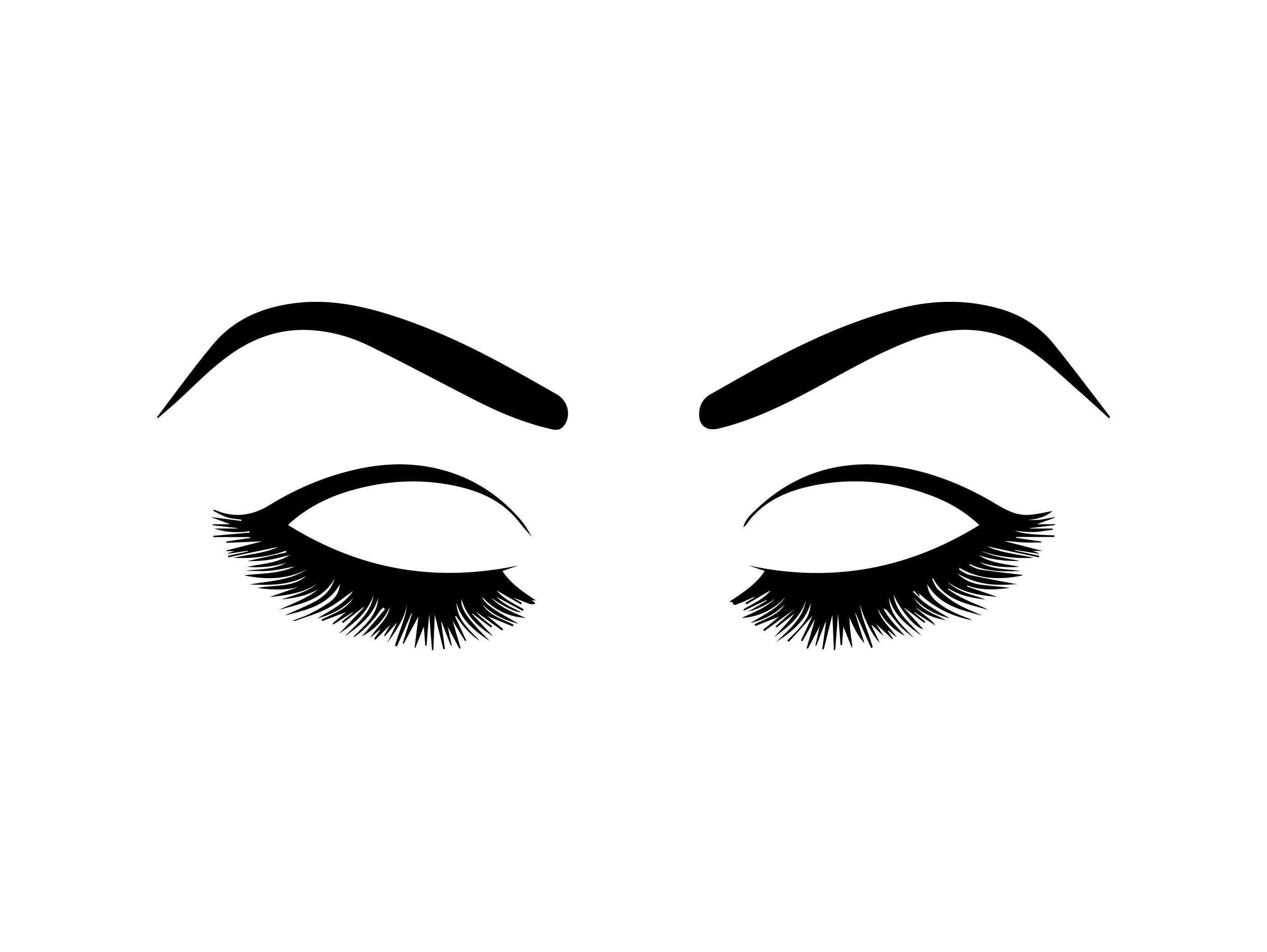 Eyebrow Eyelashes Vision Human Female Ojos Sign Eyeball See