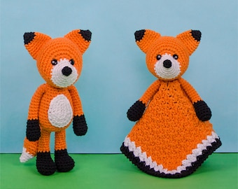 Combo Pack - Flynn the Fox Lovey and Amigurumi Set for 7.99 Dollars - PDF Crochet Pattern - Instant Download - Special Offer Pack