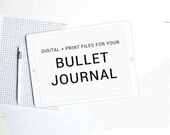 Bullet Journal Print and Digital iPad Pro Files