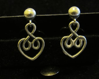 Discover Silver with this RETIRED JAMES AVERY Sterling Silver Heart Earrings