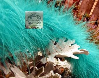Jade Blue Green Turquoise Marabou Boa Feathers