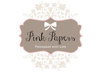 Premade Logo design- Pink Papers Logo Design