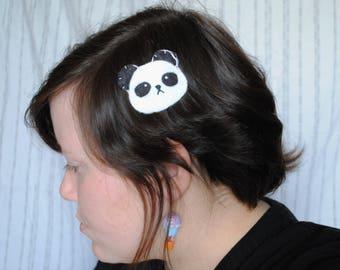 Panda Hair Clip or Brooch Pin