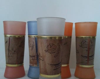 Vintage Siesta Wear Tiki Bar Glasses