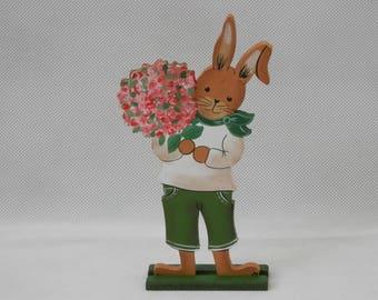 Small Polka Dot Gerbera Boy and Girl - Wooden Easter Decor