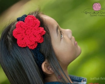 CROCHET PATTERN - Summer Bloom Headband - All sizes included - PDF 302 - Sell what you Make