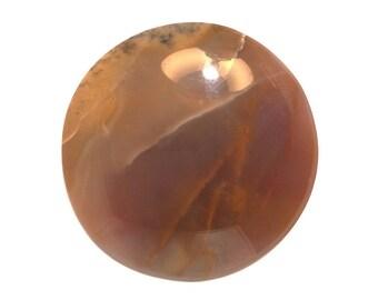 Burro Creek Agate 38X6.2mm round cabochon