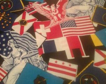 Oklahoma Americana Fabric Patriotic 1 Yard Cotton