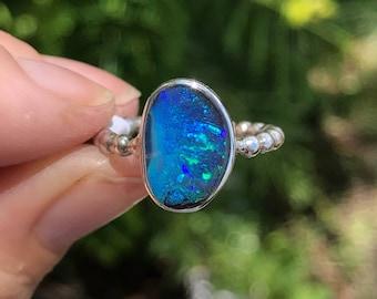 Boulder Opal Ring - US 6