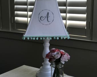 Custom Monogrammed Lamp Shade