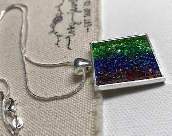 Glass caviar pendant necklace