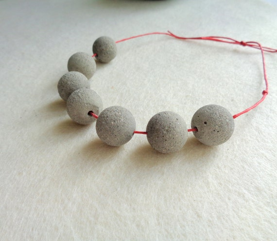 Concrete beads 16mm set of 6 hand casting beads do it concrete beads 16mm set of 6 hand casting beads do it yourself goncrete necklace geometric jewelry solutioingenieria Image collections