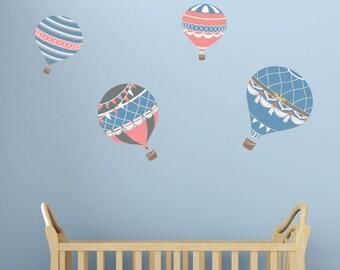 Hot Air Balloon Wall Decals - Hot Air Balloon Fabric Wall Decals