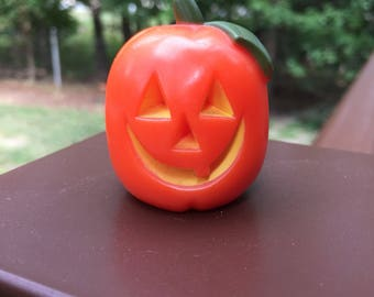 Vintage Hallmark Merry Miniatures Halloween Jack O'Lantern Pumpkin
