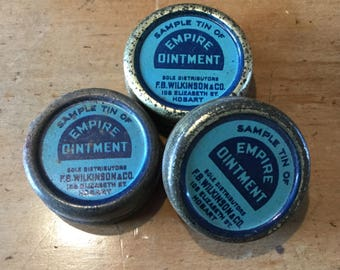 Vintage Sample Tins (3)
