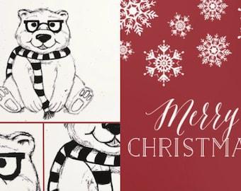 Polar Bear Christmas Card (5-pk)