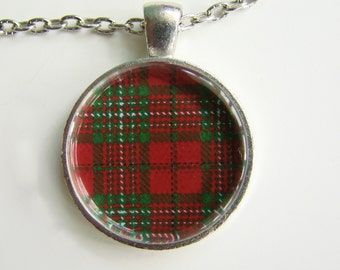 SCOTT CLAN Scottish TARTAN Necklace -- Scottish Wedding Necklace, Bridesmaids, Hen Night, Family plaid,Friendship token