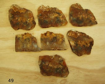 7- Grave Yard Point Plume Agate Slabs