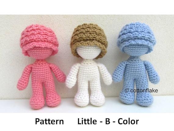Amigurumi Boy Doll Pattern : Pattern little b color doll amigurumi crochet human body