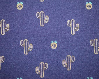 cactus fabric, quilting fabric, cotton fabric, fabric by the metre, Purple cactus material, cacti print fabric, desert fabric, cowboy fabric