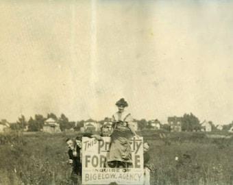 "Vintage Photo ""The Real Estate Crew"" Snapshot Antique Photo Old Black & White Photograph Found Paper Ephemera Vernacular - 127"