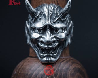 Sterling Silver 925 Japanese Hannya Ring, Songyan Jewelry