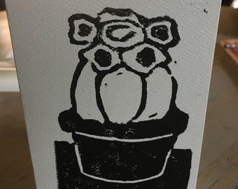 Cactus, 3 x 5 card