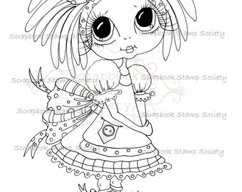 INSTANT DOWNLOAD Digital Digi Stamps Big Eye Big Head Dolls Digi IMG631 Bestie By Sherri Baldy