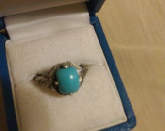 sterling turquoise ring unsure of size