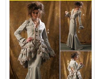 McCalls Pattern 6770-Steampunk Corset Jacket,Bustle,Mermaid Skirt,Pantaloons Size 4-10
