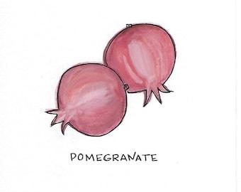 5x7 Print - Pomegranate